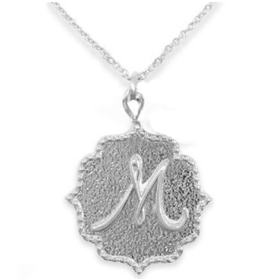 KISS INITIAL  NECKLACES ~ A to Z in gold or silver