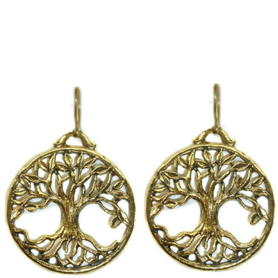 TREE OF LIFE EARRINGS ~ gold or silver