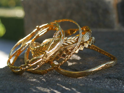 HOME ~ NEST BANGLE, Gold or Silver, Various Sizes