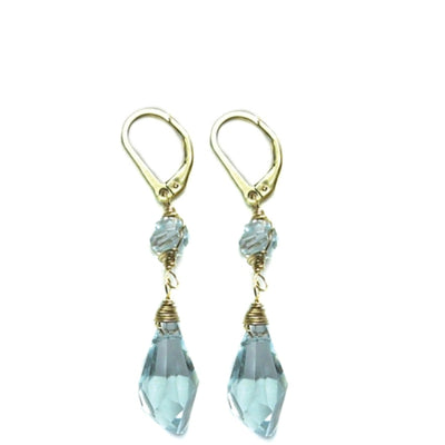 DREW SWAROVSKI DROP EARRINGS ~ Gold or silver, assorted Swarovski crystals & stones