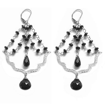 BISOU DECADENT EARRINGS ~ Gold or Silver, assorted pearls and crystals