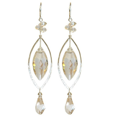 MARQUISE SWAROVSKI EARRINGS ~ Assorted colors