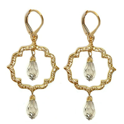 DAINTY KISS MOROCCAN EARRINGS ~ Gold or Silver, assorted double drops