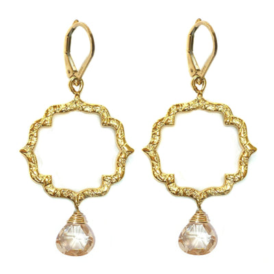 DAINTY KISS MOROCCAN EARRINGS ~ Gold or Silver, assorted briolettes