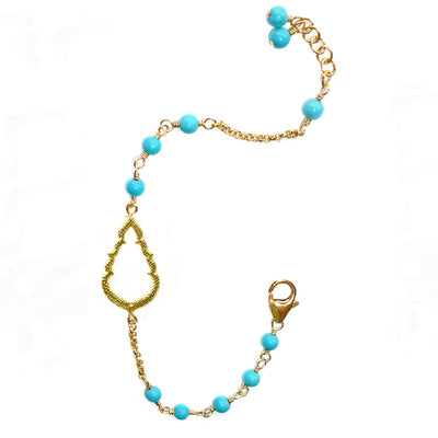 BUDDHA'S KISS© TURQUOISE BRACELET ~ Gold or Silver