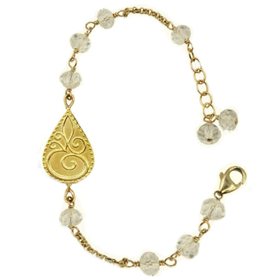 CLEAR CRYSTAL OM© BRACELET ~ Gold or Silver