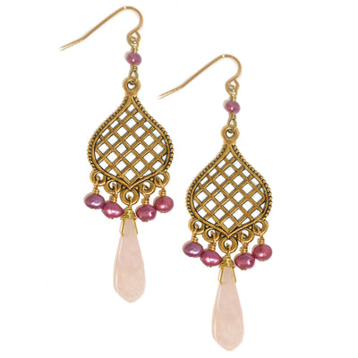 MARRAKECH EARRINGS gold or silver in various pearls & drops