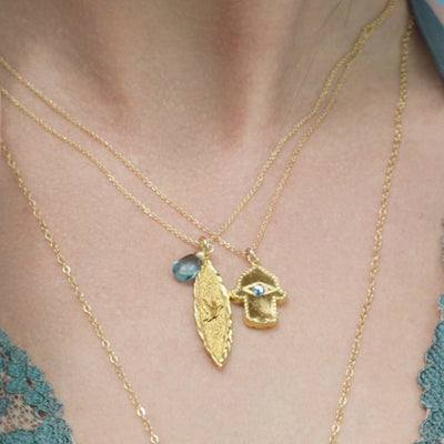 Amor Vincit Omnia DOVE BIRTHSTONE NECKLACES