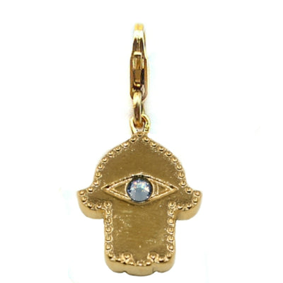 HAMSA CHARM ~ gold or silver (detachable)