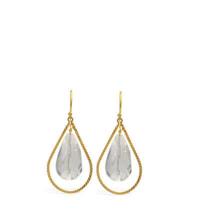 TWIST OF FATE CRYSTAL EARRINGS ~ Gold or Silver
