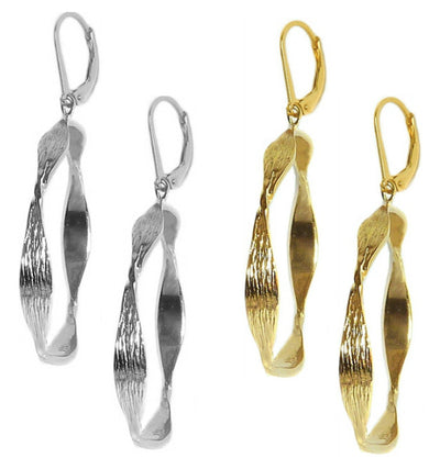 PURITY HOOP EARRINGS, in gold or silver