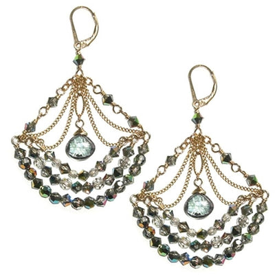RHAPSODY CHANDELIER EARRINGS gold or silver, assorted stones
