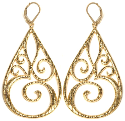 OM© STATEMENT EARRINGS in Gold or Silver