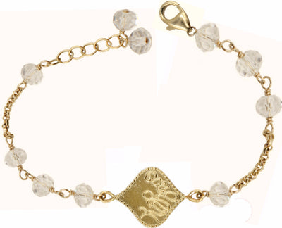 KARMA CRYSTAL BRACELET in gold or silver