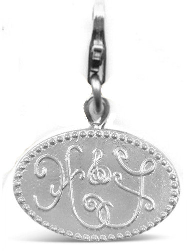 HOPE & FAITH DETACHEABLE CHARM, Gold or Silver, with or without pearl