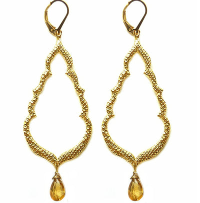 BUDDHA'S KISS© EARRINGS, (medium) ~gold or silver, assorted stones