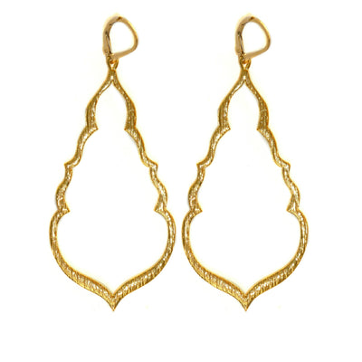 BUDDHA'S KISS© STATEMENT EARRINGS, gold or silver