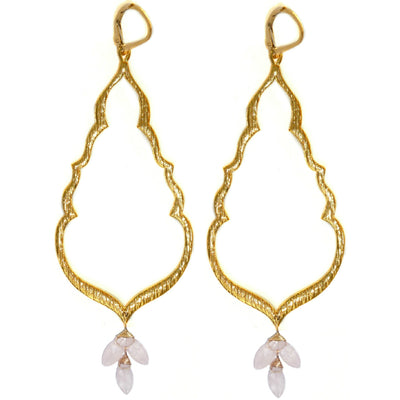 S&CTESTA BUDDHA'S KISS© Gold Statement Earrings, clusters of assorted stones or pearls - EARRINGS - SOPHIA & CHLOE - S&CTESTA