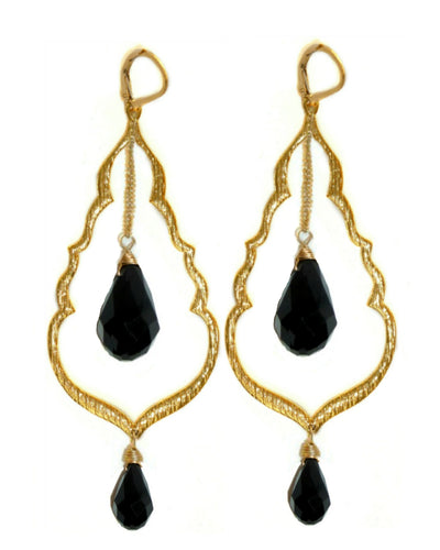 BUDDHA'S KISS© Statement Earrings ~ Gold or Silver, assorted crystals