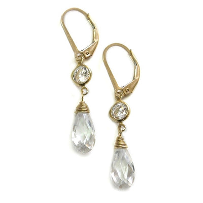 ALLEGRA DAINTY CZ EARRINGS