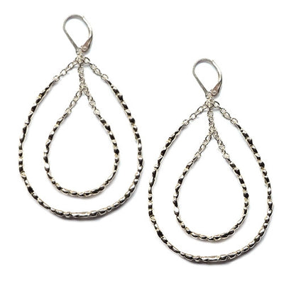 STEPPING STONE CHANDELIER EARRINGS ~ Gold or Silver