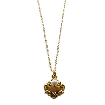 S&CTESTA DAINTY SHIELD NECKLACE - NECKLACES,BAUBLES UNDER $100,BAUBELLA,SALE - vendor-unknown - S&CTESTA