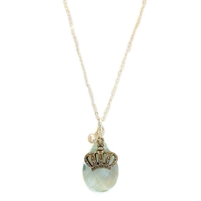 CROWN BLUE GEMSTONE NECKLACE