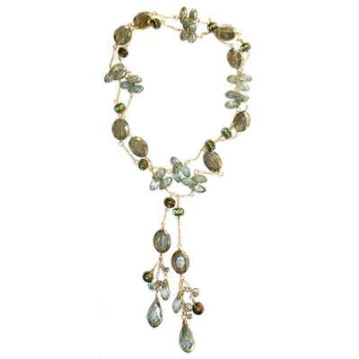 LUXE LONG MINT GREEN LARIAT