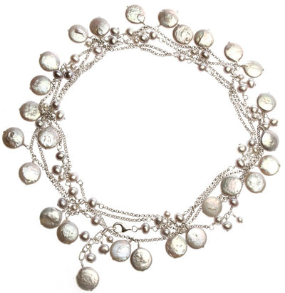 BETH'S LONG PEARL NECKLACE