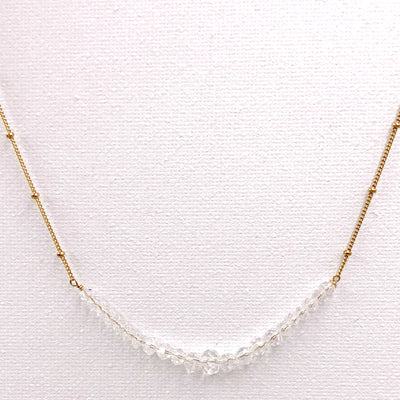 FELICITY GEMSTONE NECKLACE, gold or silver
