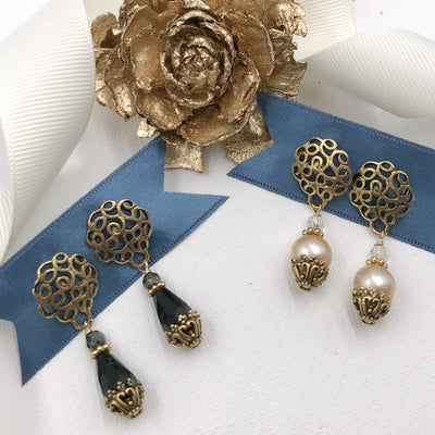 FLORENTINE EARRINGS ~ assorted colors
