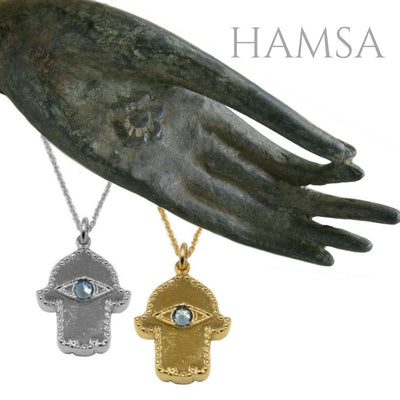 HAMSA NECKLACE ~ gold or silver