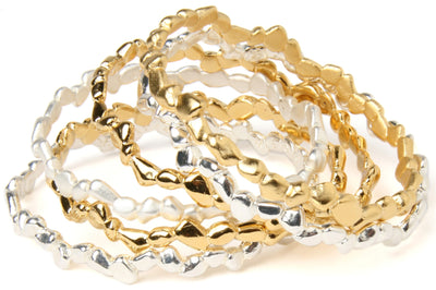 """THE FINAL CHAPTER HAS NOT YET BEEN WRITTEN"" STEPPING STONE BANGLE"