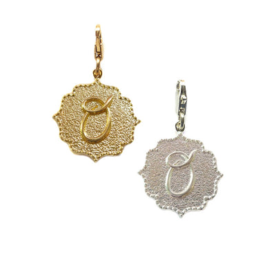 Kiss Initial Detachable Charms ~ A to Z in gold or Silver