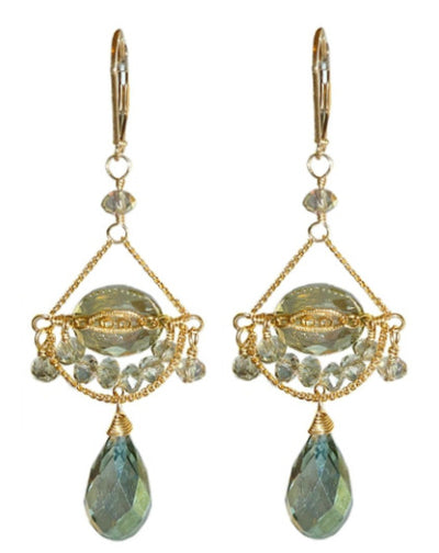 PHOEBE MINT GREEN EARRINGS