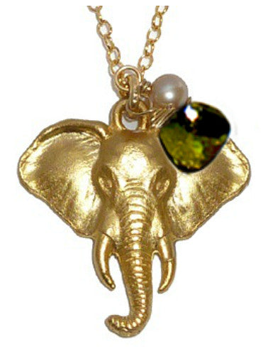 ELEPHANT BIRTHSTONE NECKLACE