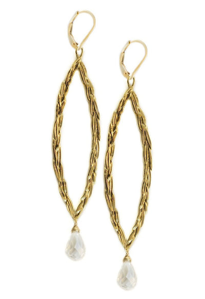 S&CTESTA Amor Vincit Omnia Gold PEACE EARRINGS with Clear Crystal ~ Assorted sizes in Gold or Silver - EARRINGS - SOPHIA & CHLOE - S&CTESTA