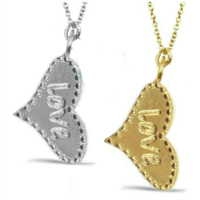 BELOVED OR LOVE HEART NECKLACES