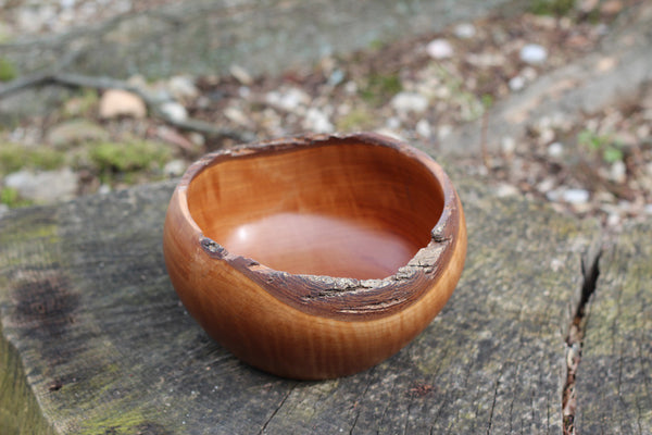 Natural Edge Hard Maple Bowl