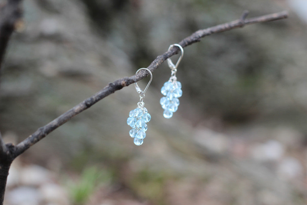 Topaz Cluster Earrings