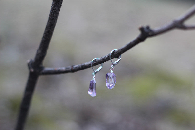 Amethyst Candy Earrings
