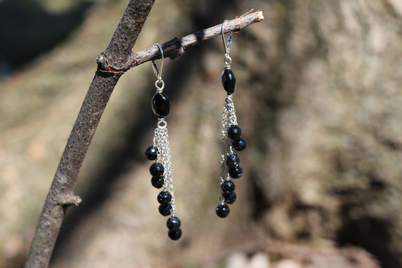 Onyx Waterfall Earrings