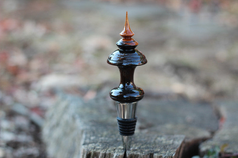 Walnut & Cherry Bottle Stopper