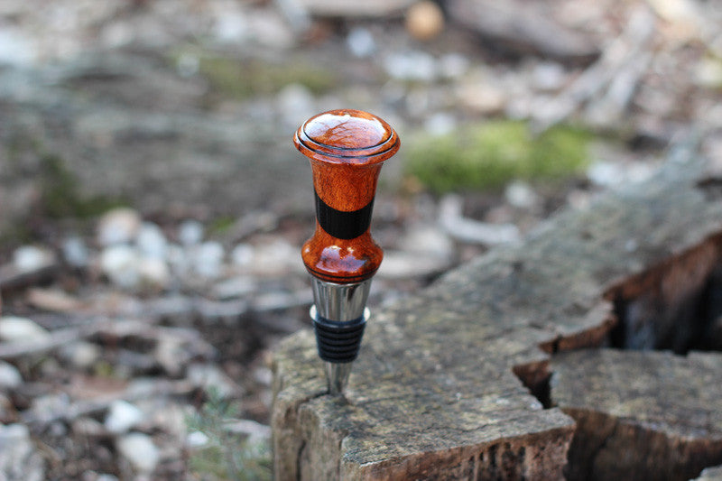 Australian Burl & Ebony Bottle Stopper