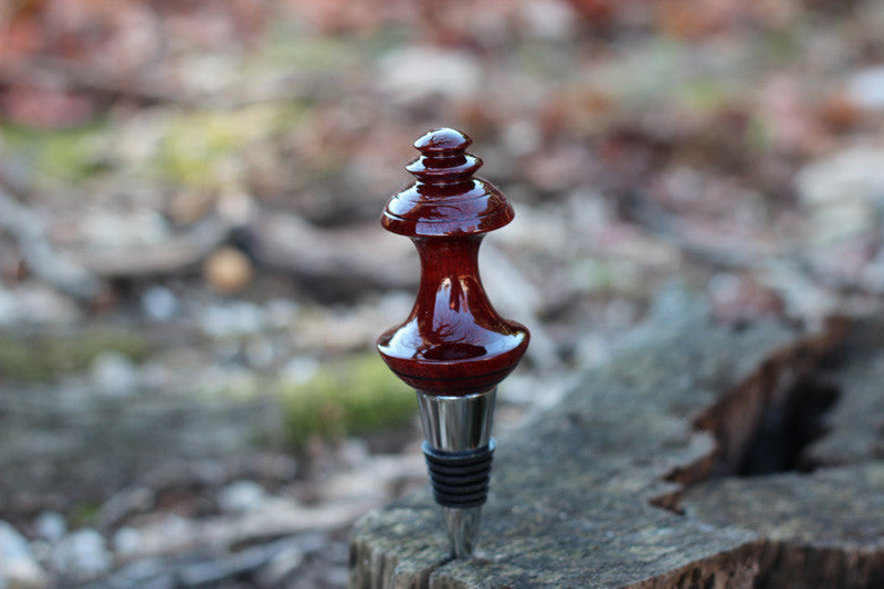 Bloodwood Bottle Stopper