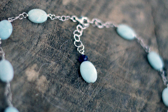Amazonite and Ebony Balance Necklace