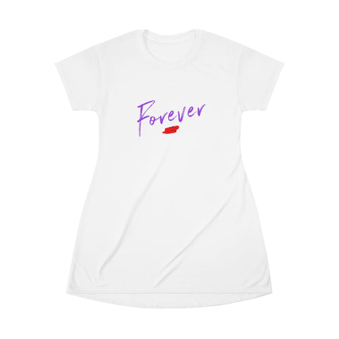 Forever/All Over Print T-Shirt Dress