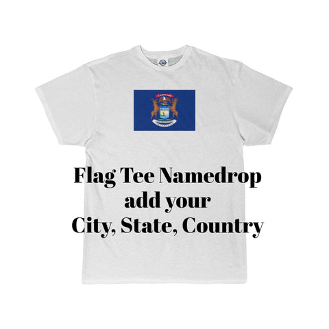 STATEFLAG/michigan/NameDrop/Adult Short Sleeve Tee - Retro Guy Apparel