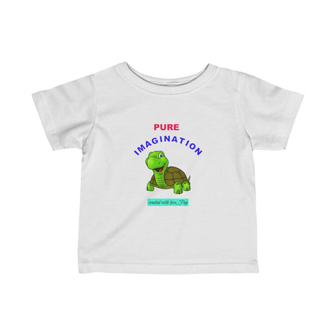 Pure Imagination / Turtle / Infant Jersey Tee / Pap Wear - Retro Guy Apparel