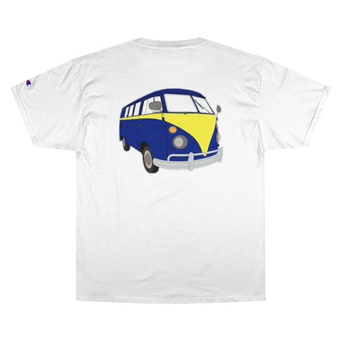 VWVan/front-back/Champion T-Shirt/parody